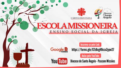 Diocese conclui Escola Missioneira sobre ensino social da Igreja