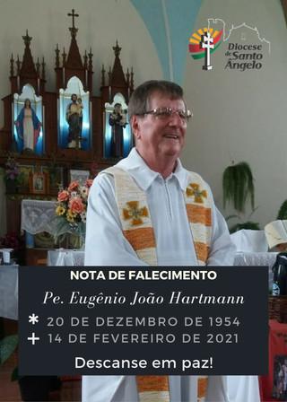 Diocese comunica o falecimento do Pe. Eugênio Hartmann
