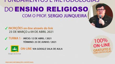 Pastoral da Educação convida para curso sobre Fundamentos do Ensino Religioso