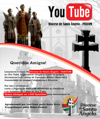 DIOCESE LANÇA CANAL NO YOUTUBE