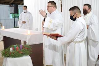 Pe. Leonardo Diekmann celebra sua primeira Missa