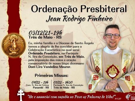 Convite para Ordenação Presbiteral