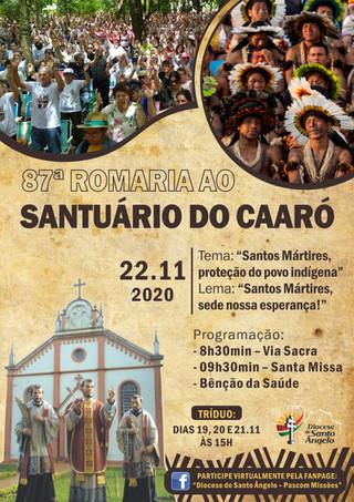 Participe virtualmente da 87ª Romaria ao Caaró