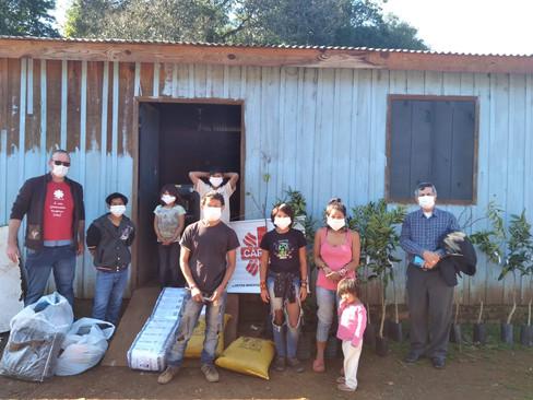 Cáritas realiza doações à Aldeia Indígena