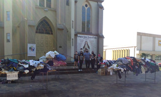 Emaús da Paróquia de Guarani das Missões realiza campanha do agasalho