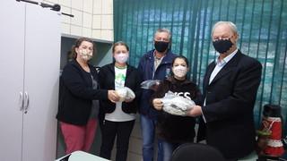 Pastoral da Criança realiza doação de máscaras à Secretaria de Saúde de Vitória das Missões