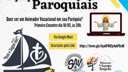 SAV promoverá formação para animadores vocacionais paroquiais
