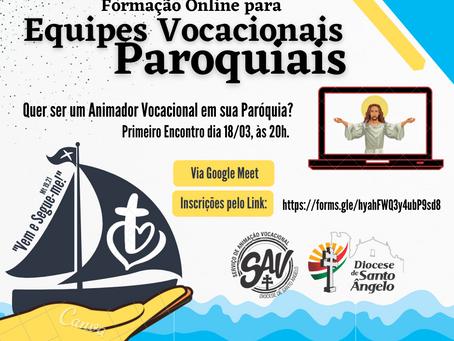 Amanhã inicia a formação para animadores vocacionais paroquiais