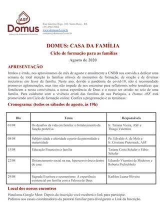 Convite: Ciclo de formação para as famílias