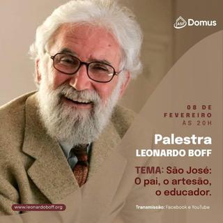 Instituto DOMUS convida para palestra com Leonardo Boff