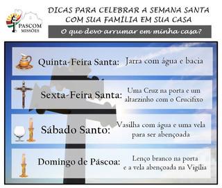Dicas para celebrarmos a Semana Santa em família