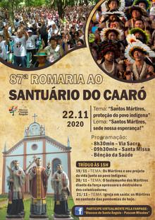 Diocese se prepara para a 87ª Romaria ao Santuário do Caaró