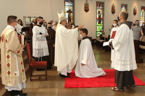 Frei Márcio Birck foi ordenado diácono em Horizontina