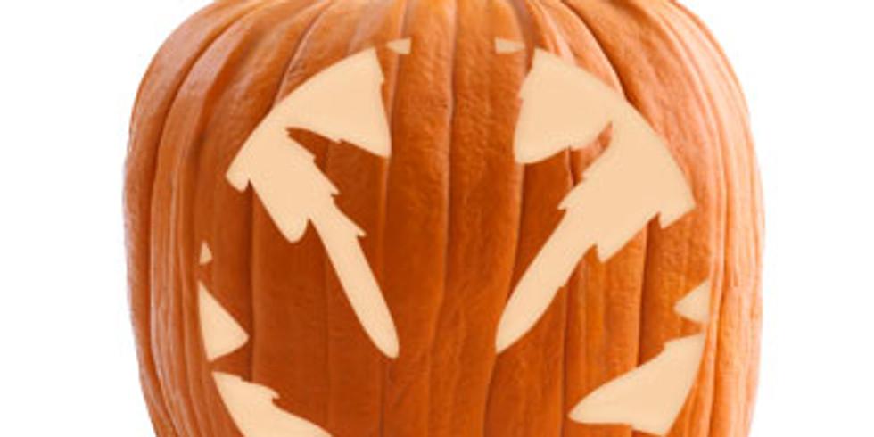Poolside Pumpkin Carving