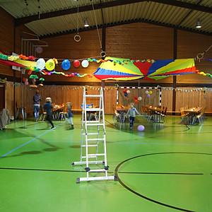 Kinderfasching Markt Einersheim - Aufbau