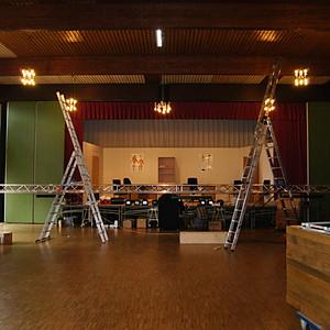 Aufbau Häckerbühne
