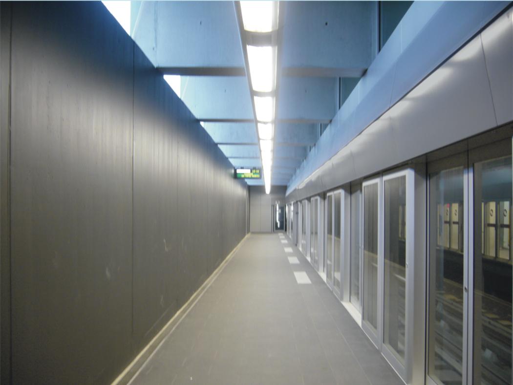 Charte lumineuse / conception de luminaires Métro M2 Lausanne