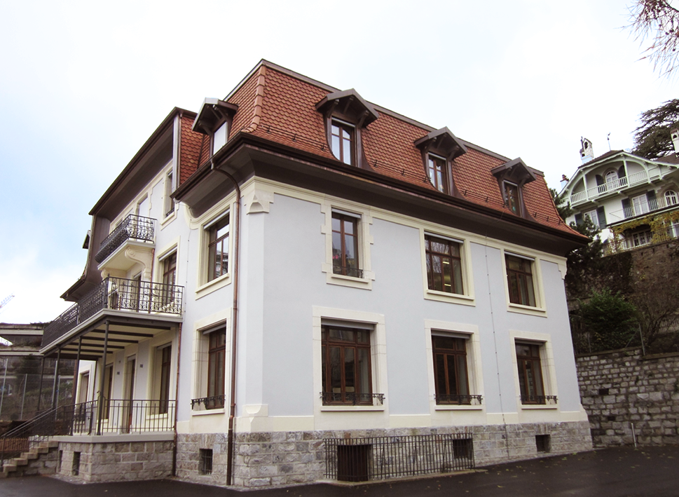 Thermal improvement of historic buildings Florimont primary school, City of Lausanne