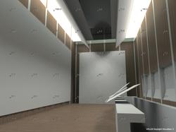 Ambient lighting simulations Maison de l'écriture, Exhibition hall, Arch. Mangeat-Wahlen