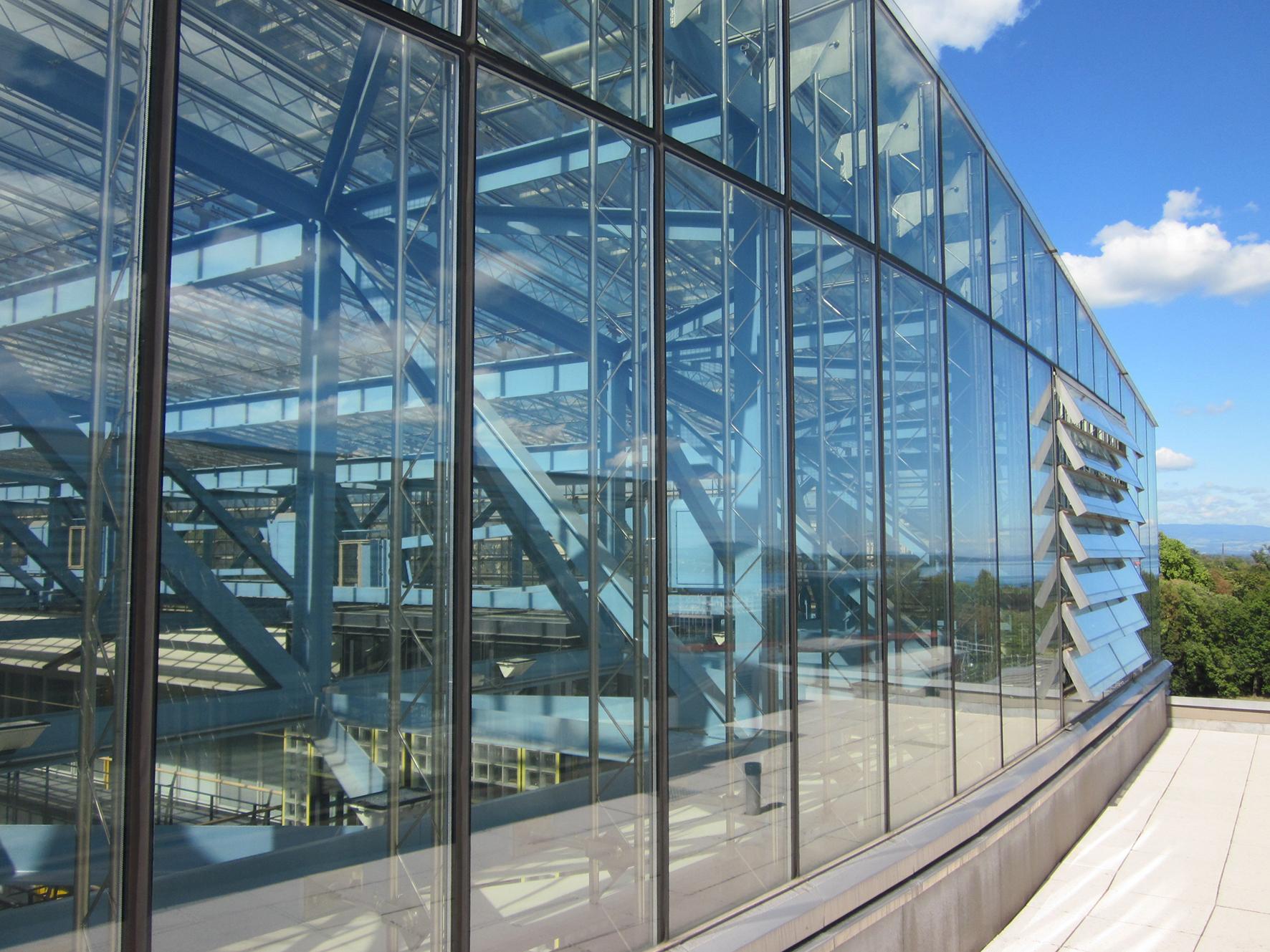 Optimisation du confort d'été dans les atriums UN-HCR, Genève