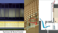 Natural ventilation of large volumes / Sports Hall Borex-Crassier, Arch. Mann Capua Mann