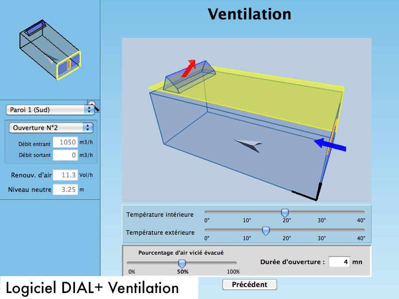 """Conception d'un outil spécialisé Logiciel DIAL+, module """"Ventilation"""""""