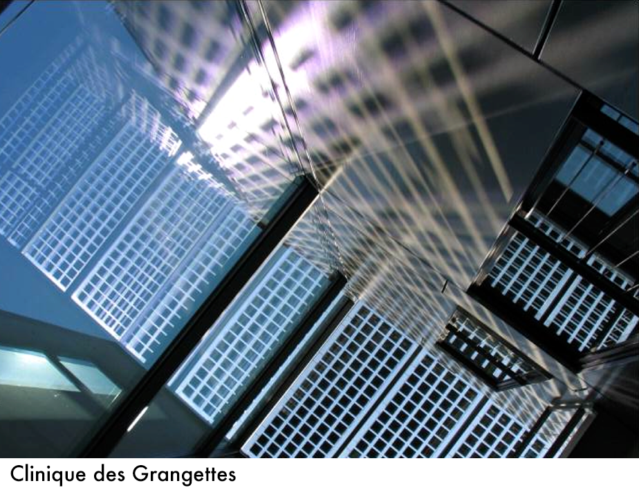 Valorisation de l'effet de cheminée Centre médical des Grangettes, Arch. Eric Dunant