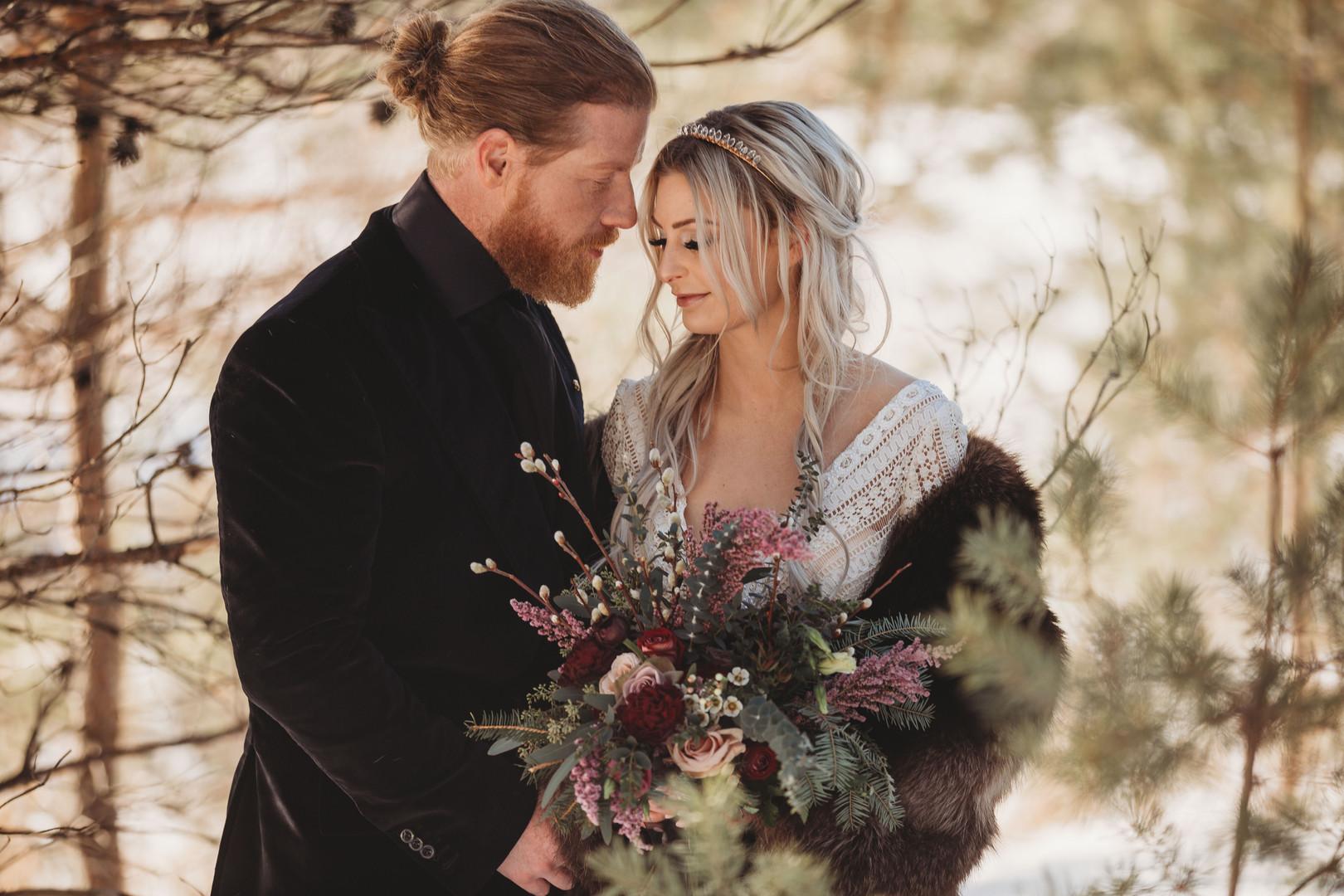 Enchanted Winter Romantic Couple