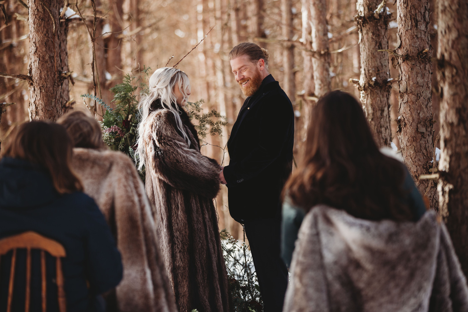 Enchanted Winter Ceremony Moment