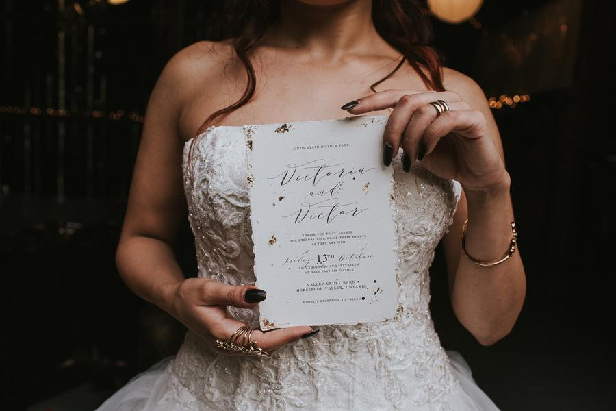 Moody Halloween Wedding Invitation