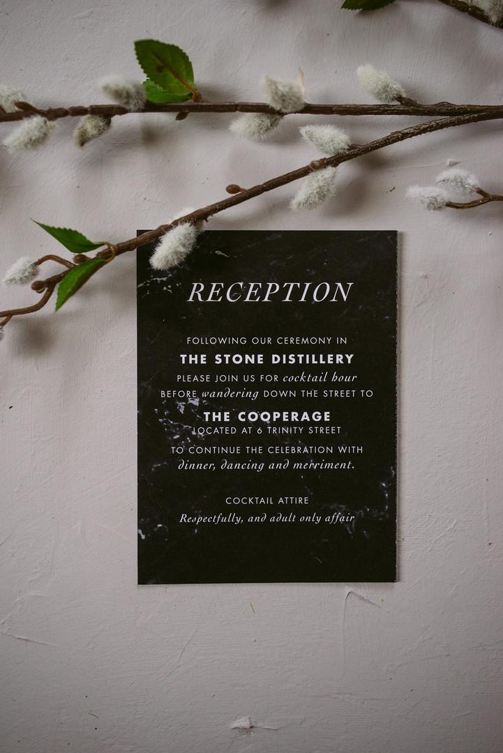 The Villa Suite Reception Card
