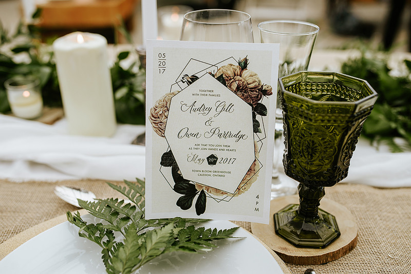 Modern Greenhouse Wedding Invitation