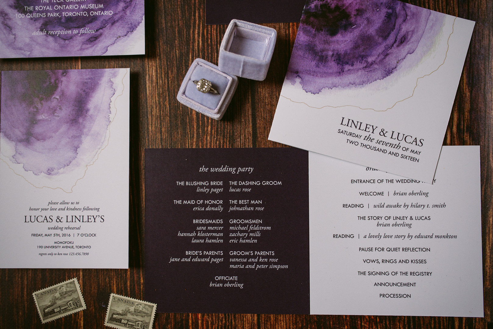 The Elemental Wedding Invitation Suite
