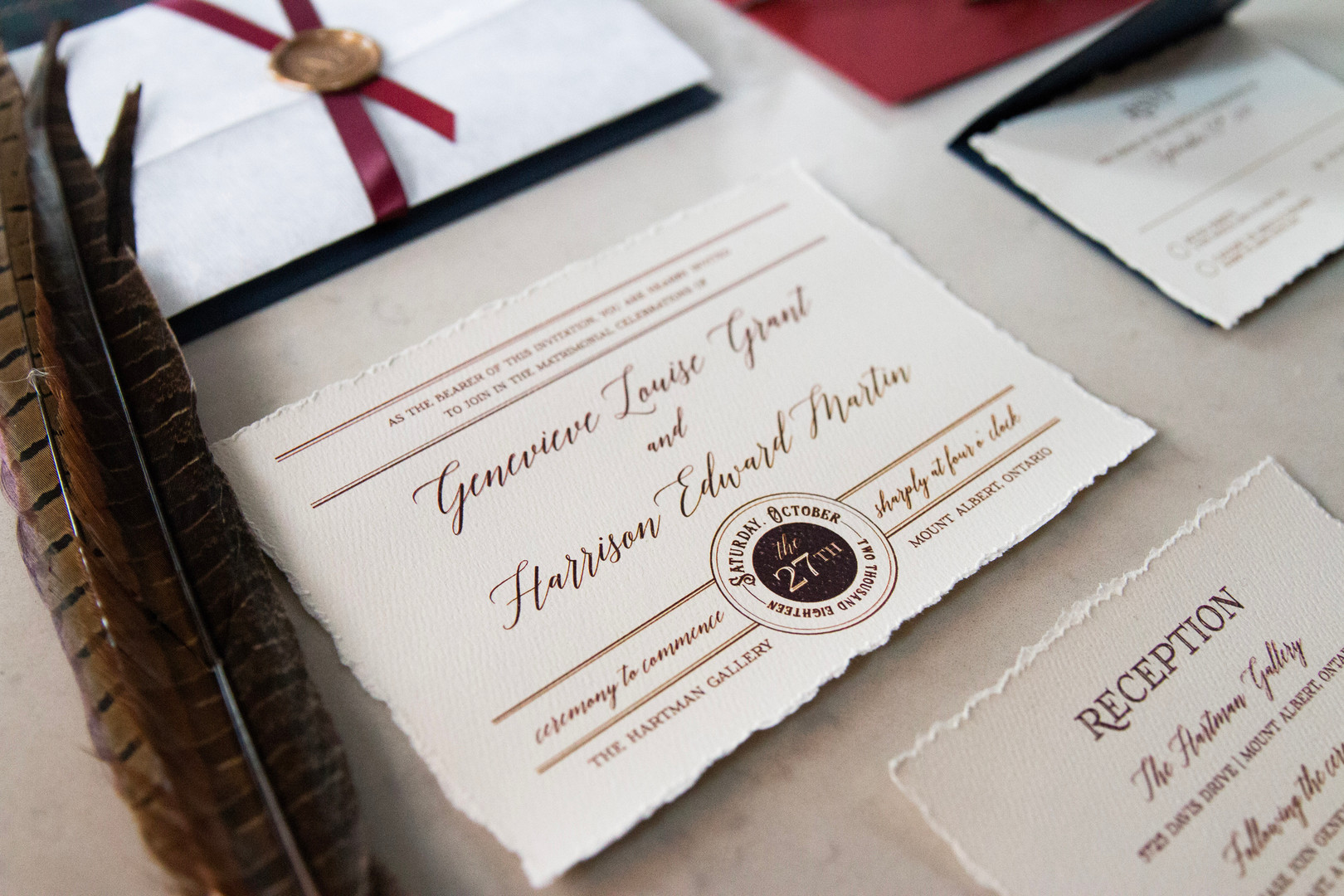 Harry Potter Inspired Wedding Invitation
