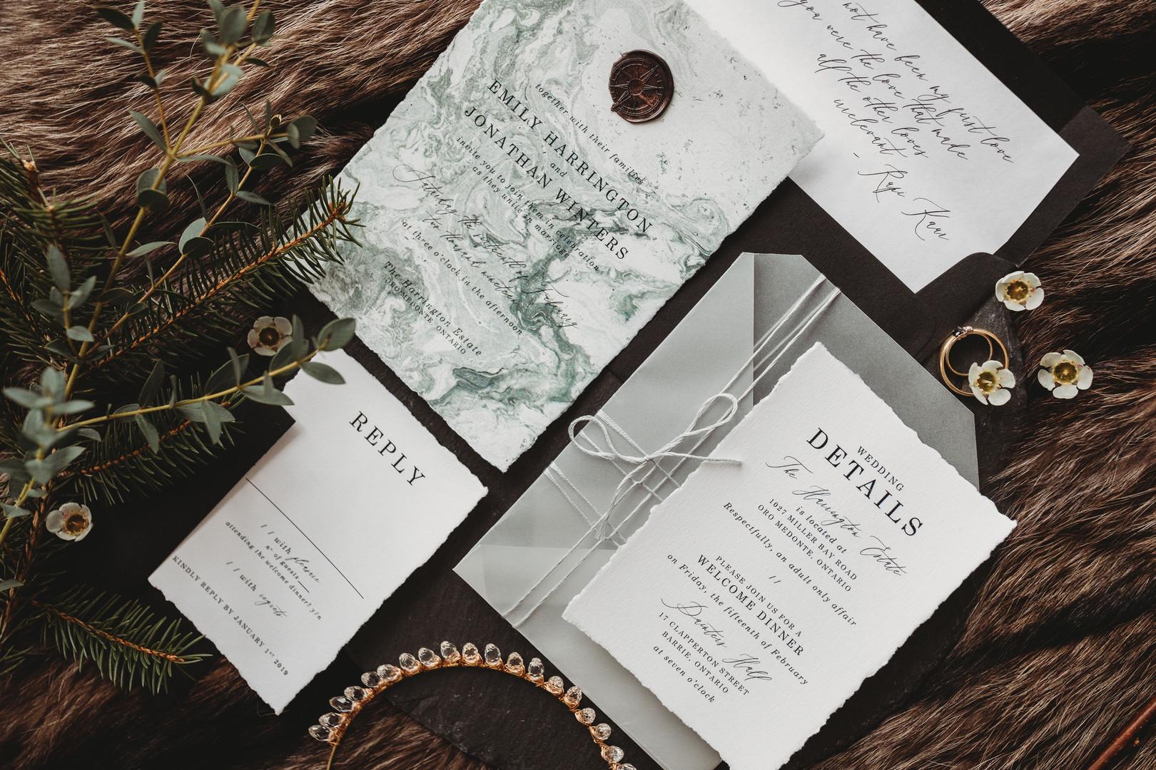 Enchanted Winter Wedding Invitation Suite