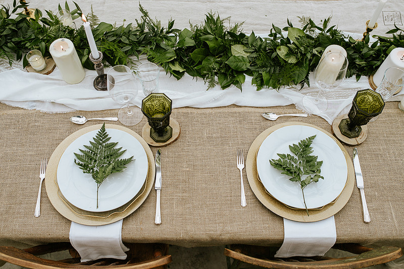 Modern Greenhouse Wedding Tablescape