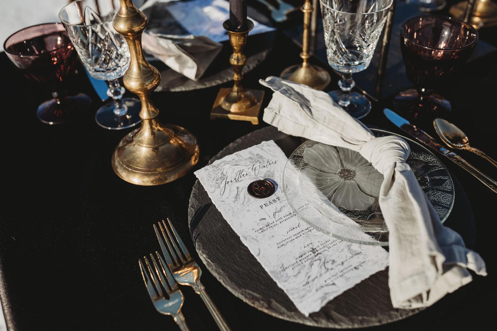 Enchanted Winter Wedding Menu