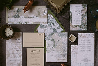 Marbelized paper, Barrie wedding invitations, wedding invitation