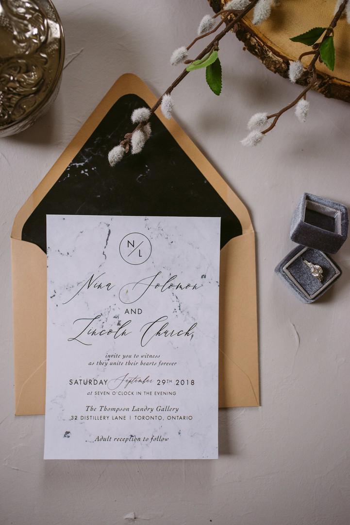 The Villa Suite Wedding Invitation