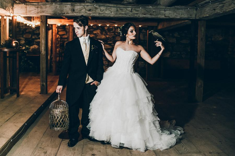 Dark and Moody Halloween wedding