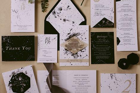 Marbelized paper, Barrie wedding invitations, wedding invitation