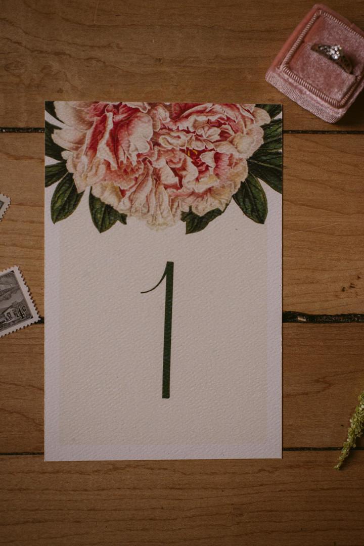 The Modern Botanist Table Number