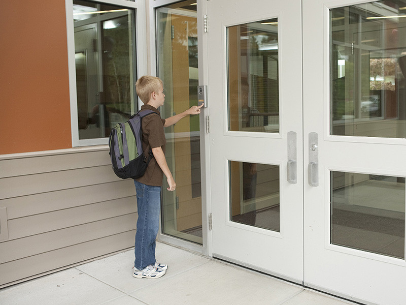 Door camera system example