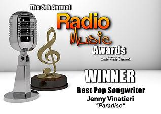 RMA Winner Pop Songwriter Jenny Vinatier