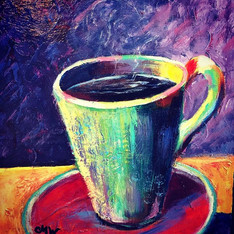 Here I go again!! These 8x8 coffee paint