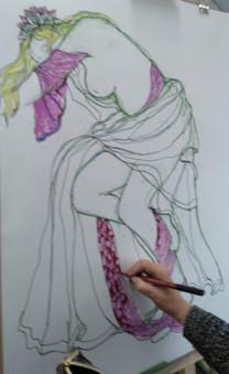Art Nouveau life drawing class