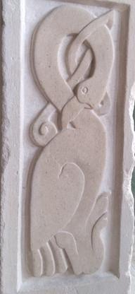 celtic bird stone carving- 2 day workshop