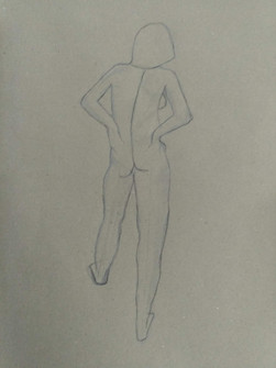 Life drawing - line gest