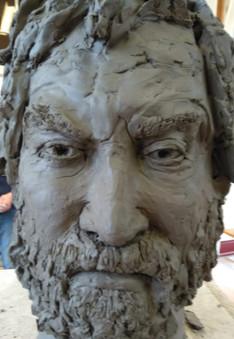 Portrait sculpture from life
