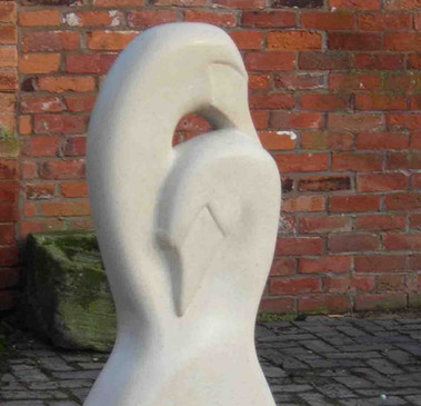 swan stone carving